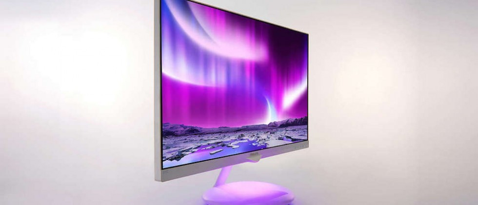 Philips Ambiglow Plus Base monitor features a color synchronized mood light
