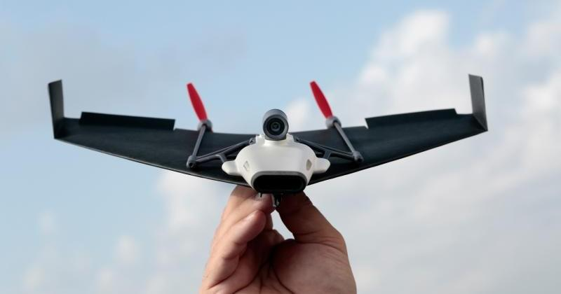 PowerUp FPV: Paper plane, camera, Parrot. 'Nuff said