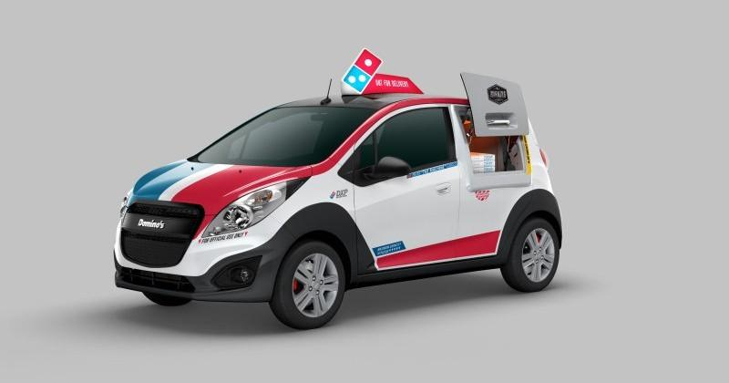Chevrolet Spark modified to carry, deliver 80 pizzas at a time