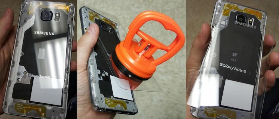 Galaxy Note 5 gets a transparent back with DIY mod