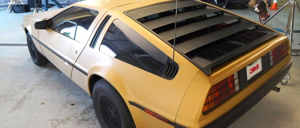3M makes a 4th gold Delorean for Back to the Future day