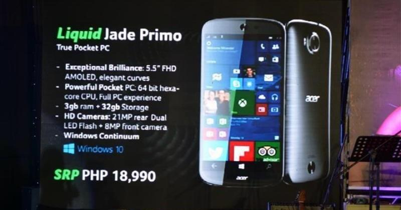 "Acer Liquid Jade Primo ""pocket PC"" might cost a handful"