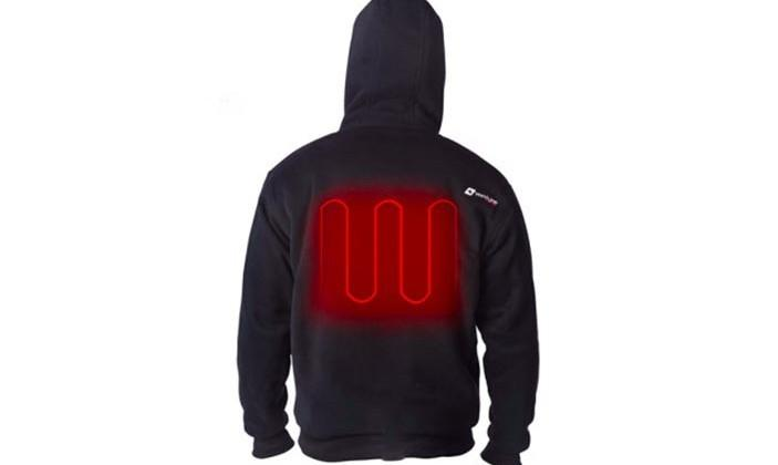 Evolve Heated Hoodie keeps wearer warm with USB battery