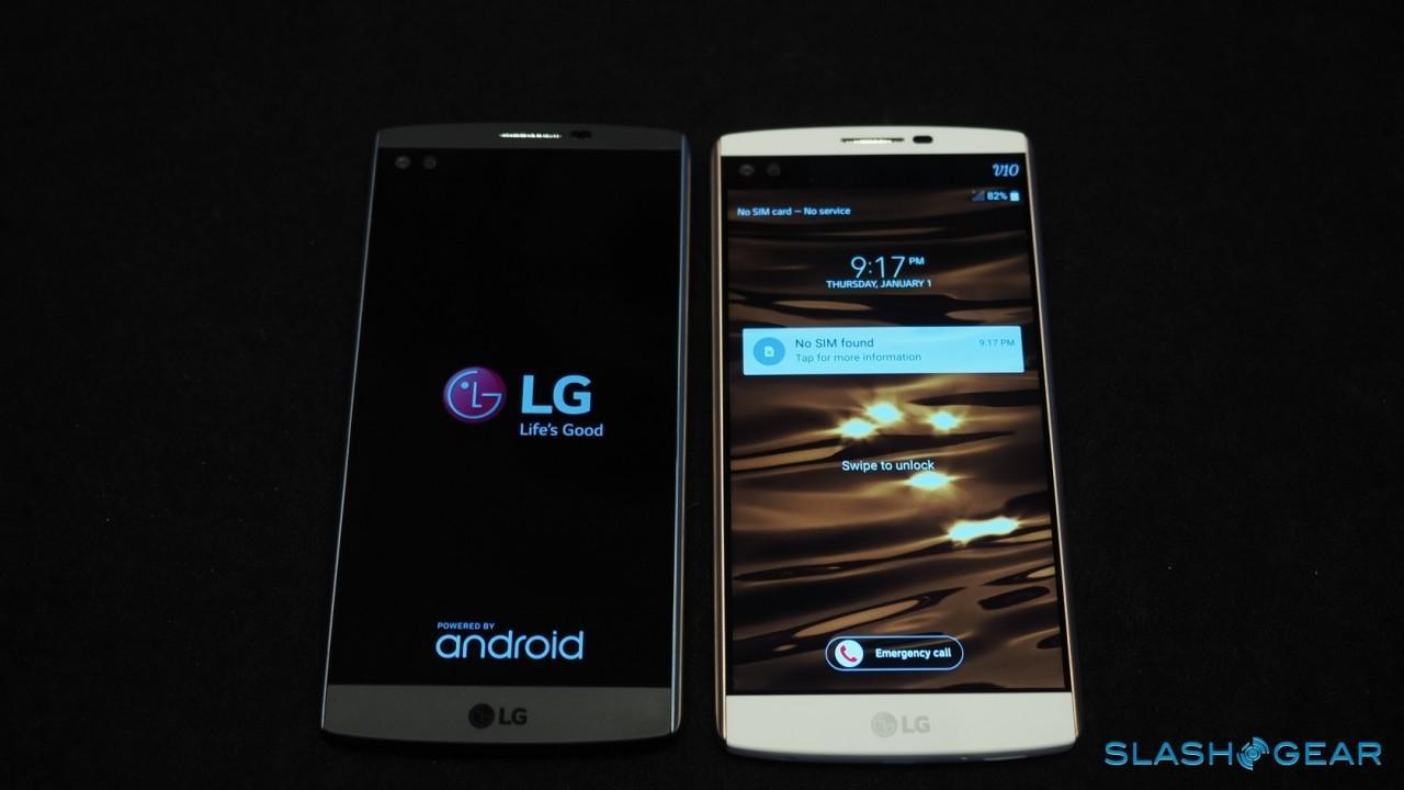 LG V10 Black and Whit