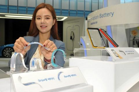 Samsung Stripe and Band batteries are flexible, target wearables