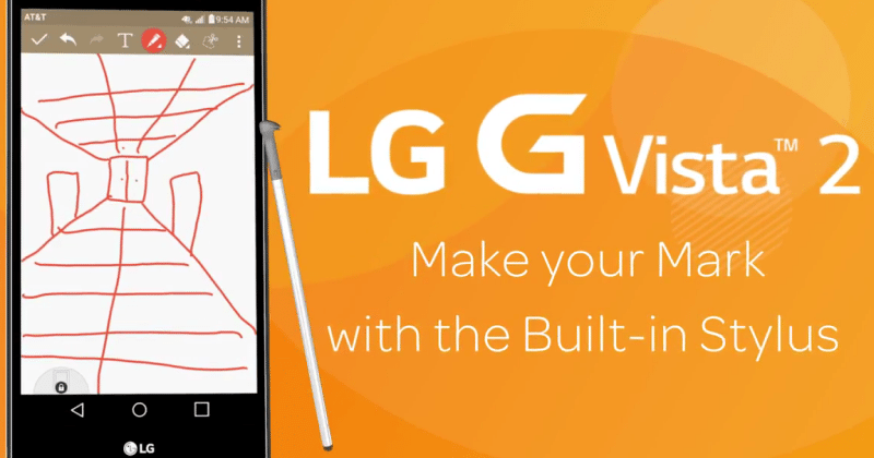 AT&T teases stylus-enabled LG G Vista 2 coming soon