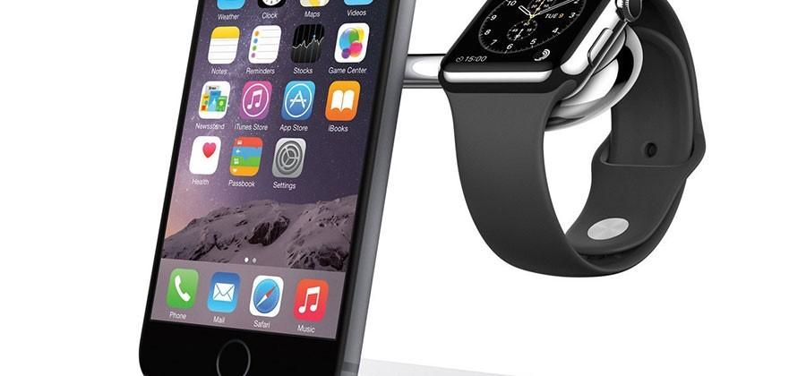 Belkin Charge Dock charges iPhone and Apple Watch