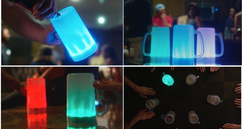 ePint mug glows to celebrate your team's score