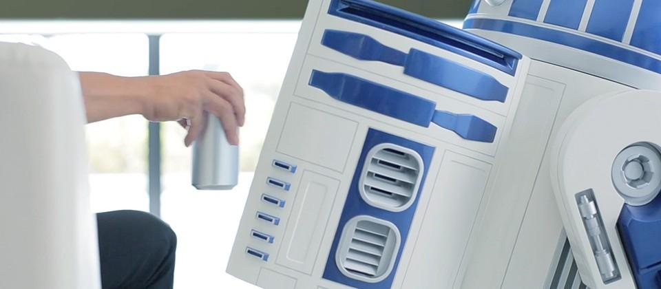 This awesome life-size R2-D2 fridge is Japan-only