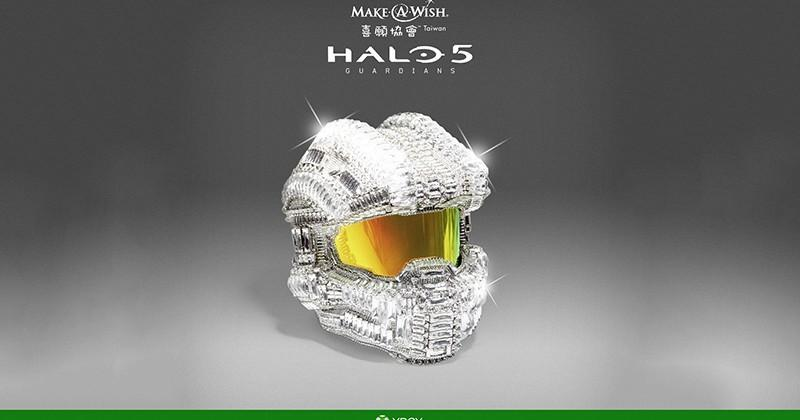 Swarovski-coated Halo Master Chief helmet gets auctioned for charity