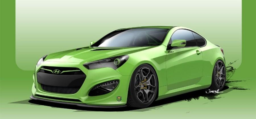 Hyundai Tjin Edition Genesis Coupe struts into SEMA with 500hp