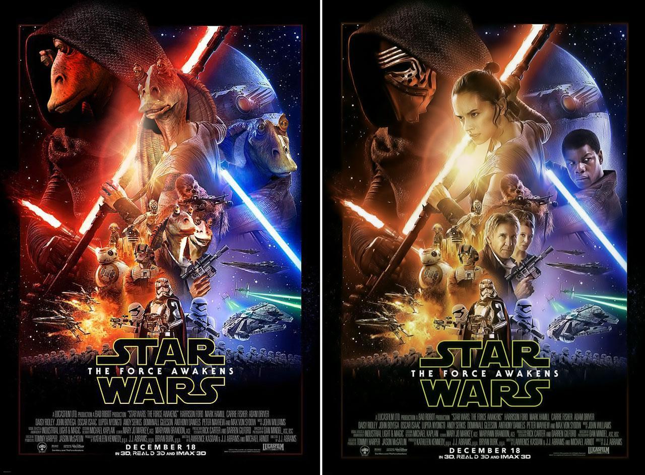 Star Wars: The Force Awakens poster parodies 'till trailer
