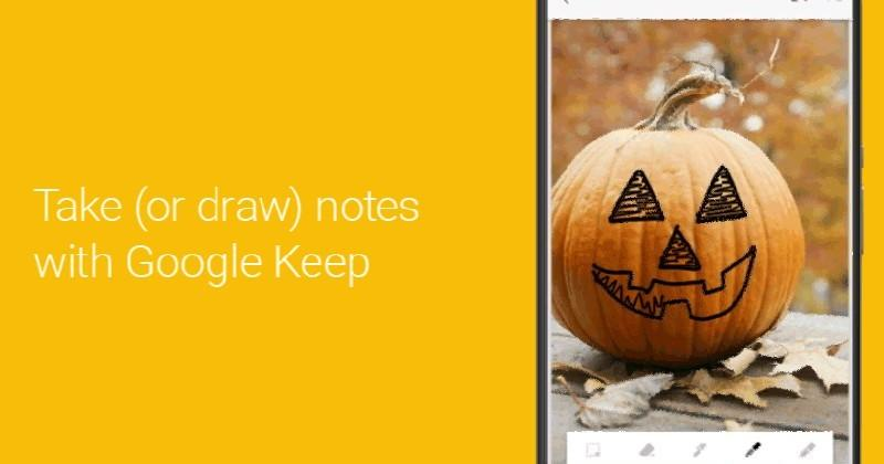 Google Keep gets serious, lets you doodle on notes
