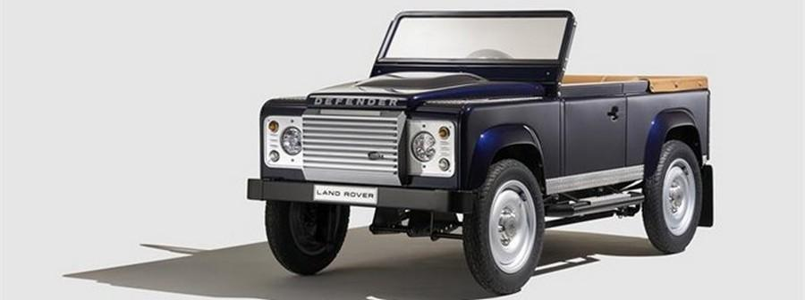 Land Rover Defender pedal car aims at the young