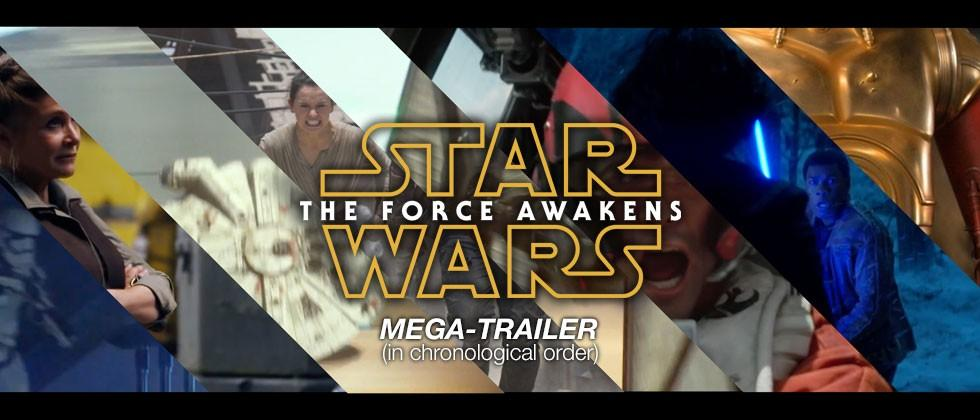 Our own Star Wars The Force Awakens mega-trailer (in chronological order)