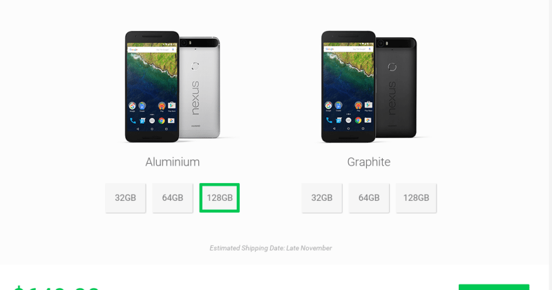 You can pre-order the 128GB Nexus 6P directly from Huawei