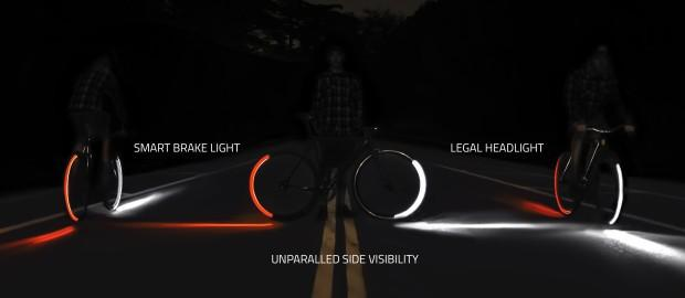 Give your bike a real headlight & turn signals with these LEDs
