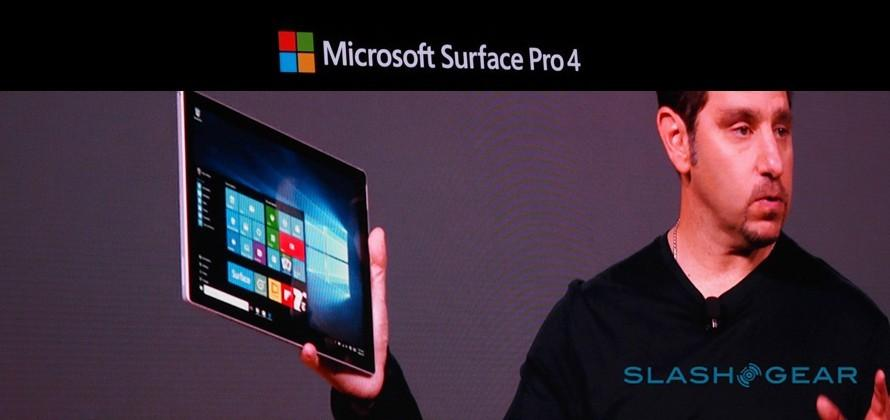 Surface Pro 4 revealed: 6th-gen Intel Core, glass trackpad, 12.3-inch display