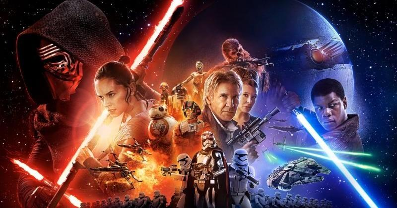 Star Wars The Force Awakens theatrical poster has no Luke
