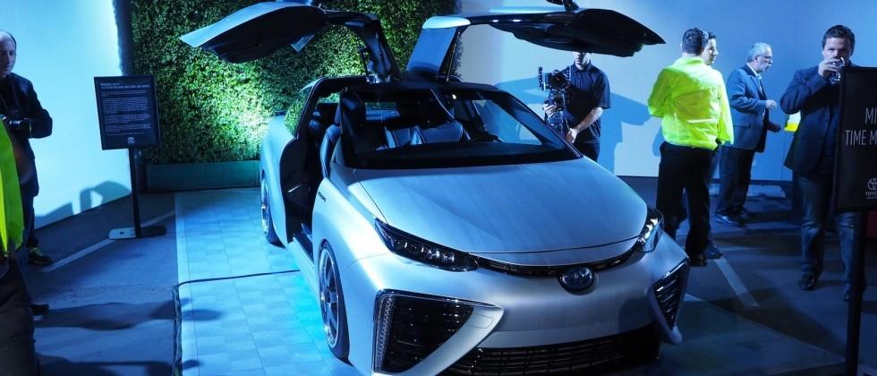 "Toyota built this amazing ""Back to the Future"" gullwing Mirai"