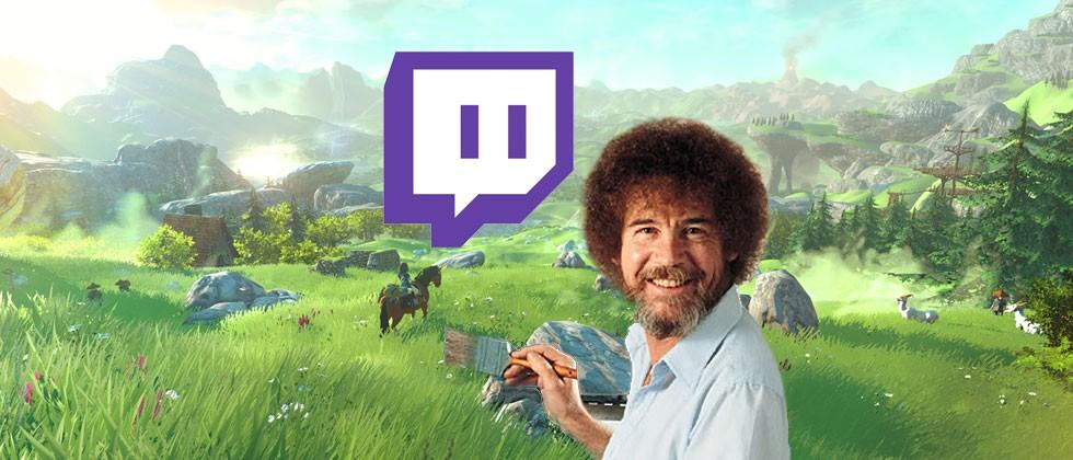 Bob Ross launches Twitch's painting channel