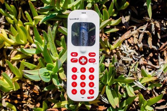 AT&T GoPhone SpareOne emergency phone runs on AA batteries