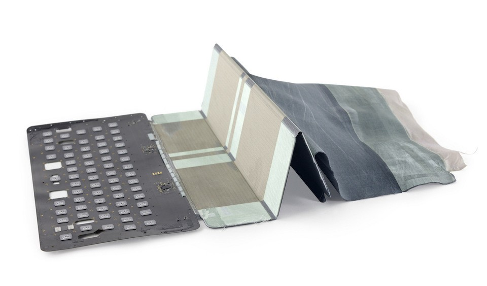 iPad Pro Smart Keyboard iFixit teardown peels back the conductive fabric