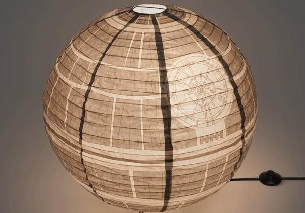 Death Star and Borg Cube shine as paper lanterns