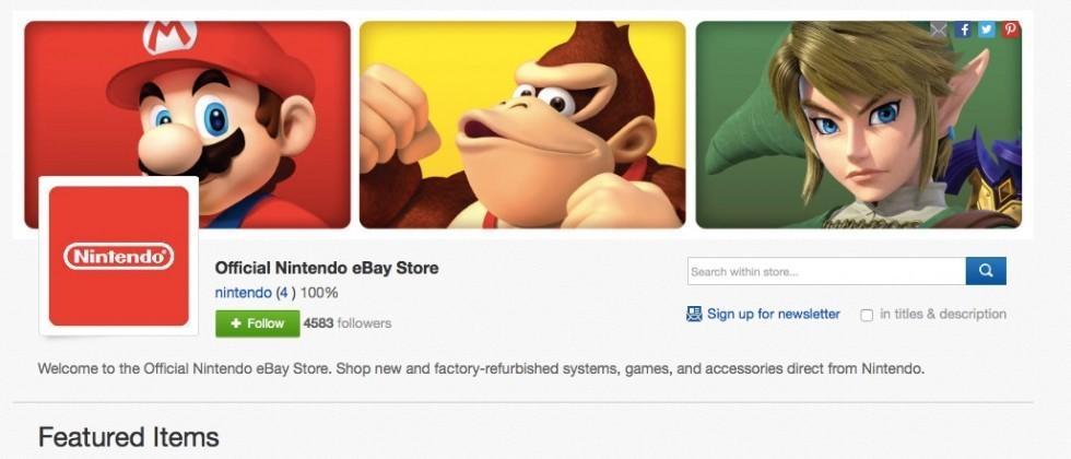 Nintendo debuts official eBay storefront