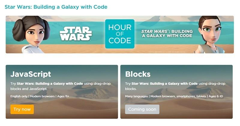 Learn to code your own Star Wars game in just an hour