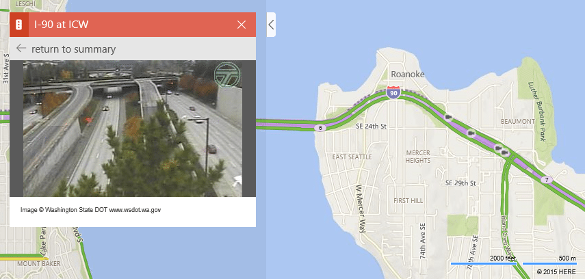 Bing Maps update adds traffic camera video feeds
