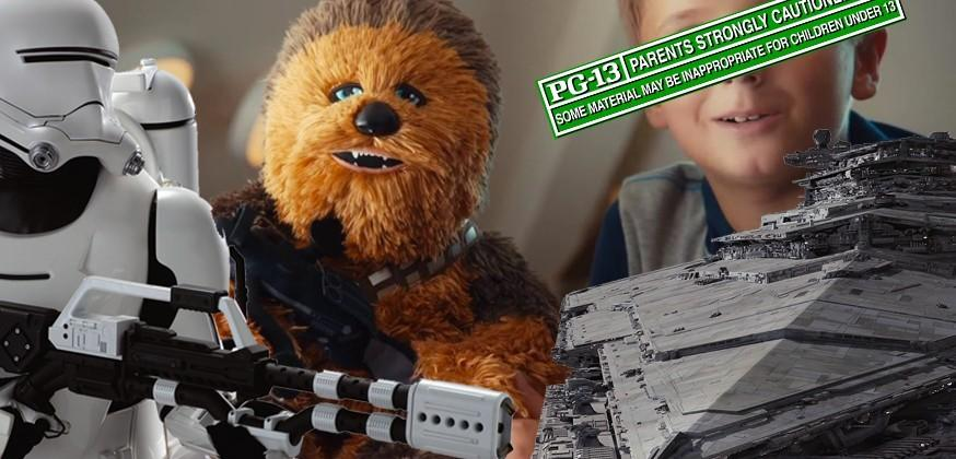 The Force Awakens rated PG-13, oh and here are Star Wars Build-a-Bears