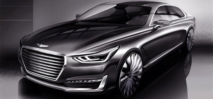 Hyundai shows off Genesis range topping G90 renderings