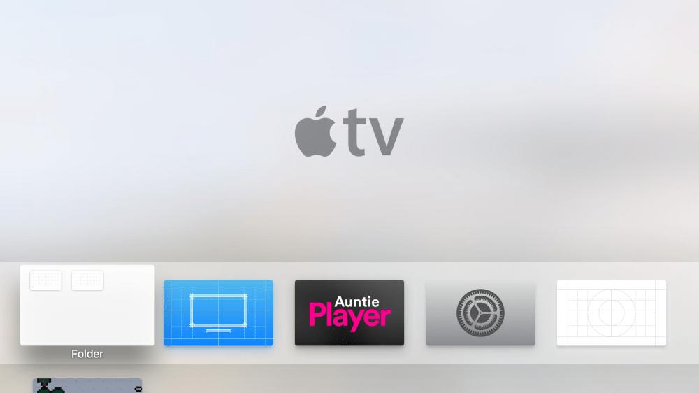 New Apple TV tipped to get app folders in tvOS code