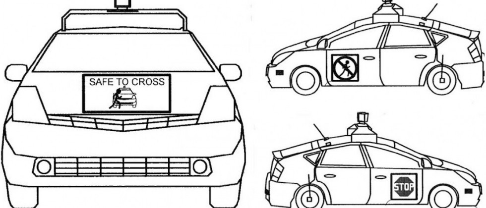 Google self-driving cars aim to talk to pedestrians, patent reveals