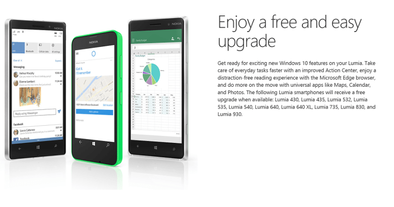 Windows 10 Mobile upgrade schedule leaked by Orange Poland