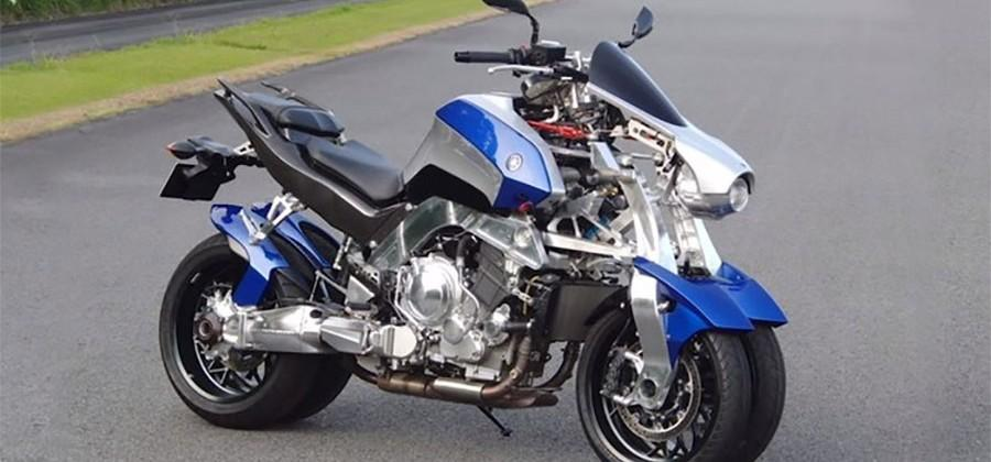 Yamaha's odd OR2T four-wheel motorcycle hits the track