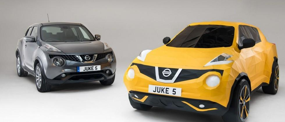 Where Is Nissan Made >> Nissan Made A Life Size Origami Juke To Celebrate Its 5th