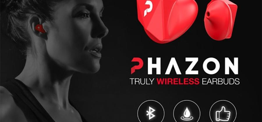 Phazon wireless earbuds are one-size fits all and water-resistant