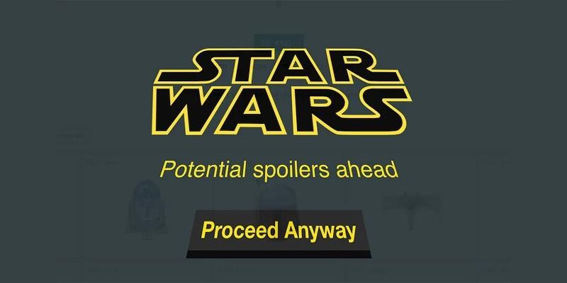 Block Star Wars spoilers with this Chrome extension