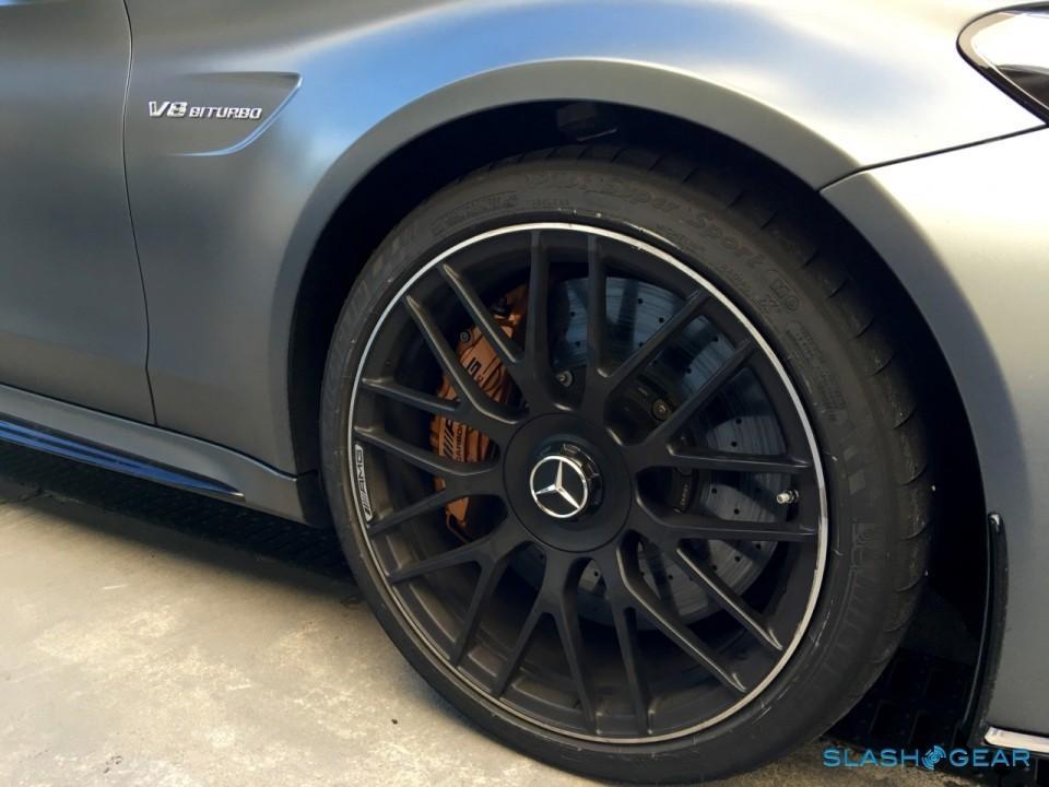 2017 Meredes-AMG C63 S Optional carbon-ceramic brakes