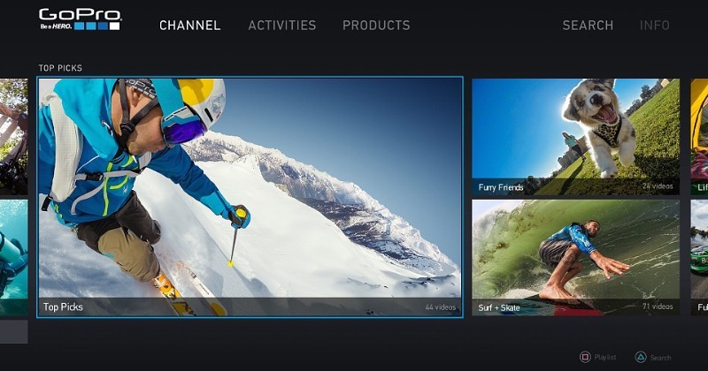 GoPro Channel comes to PlayStation Network