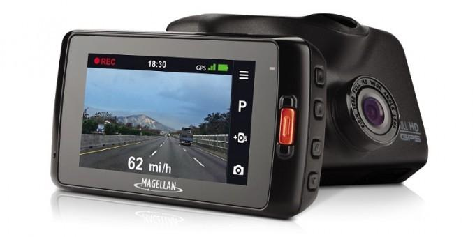 The Magellan MiVue 420 features lane departure and collision avoidance warnings, ultra high definition recording, and a wide angle lens that increases driver peace of mind and safety. (PRNewsFoto/Magellan)