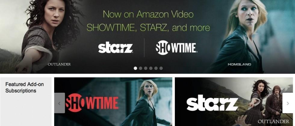 Amazon Prime offers Showtime, Starz subscriptions without