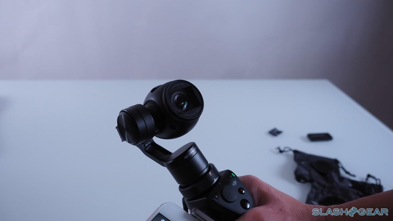DJI Osmo with mic and phone attached