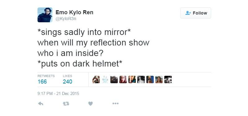 Emo Kylo Ren is the Star Wars Twitter account that you need to follow