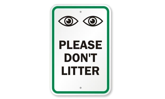 Researchers: printing eyes on items reduces littering