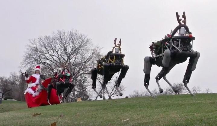 Boston Dynamics sends Christmas greetings with robo-reindeer