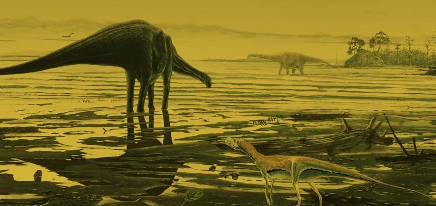 Newly discovered dinosaur footprints reveal they once roamed Scottish lagoon