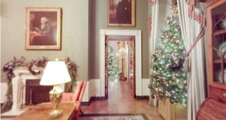Take a VR holiday tour of the White House with Cardboard